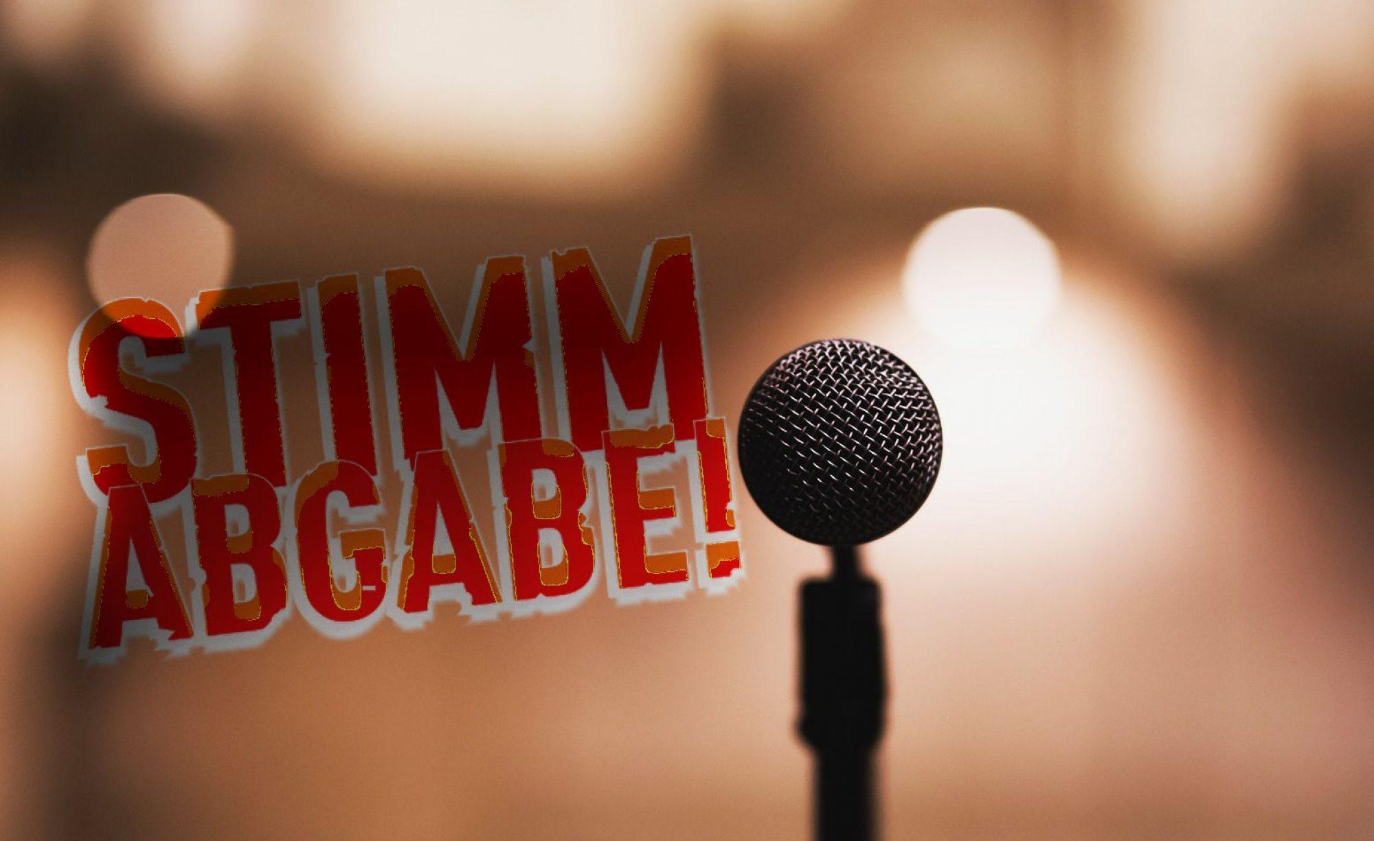 Stimmabgabe - Lieder